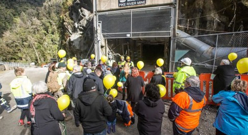 'They're In' Pike River families witness symbolic re-entry