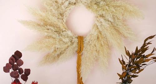 Pampas Grass Wreath DIY