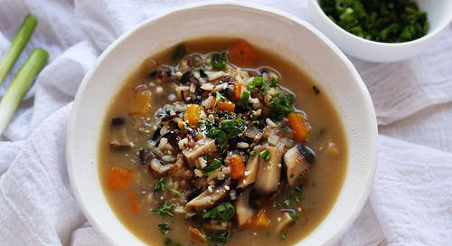 Wild Rice and Mushroom Risotto Soup