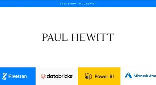 Paul Hewitt accelerates eCommerce with Fivetran & Databricks