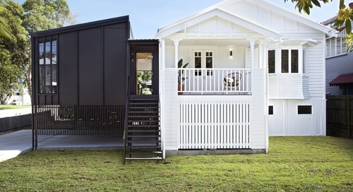 A Classic Queenslander Bungalow Gets an Inky New Extension