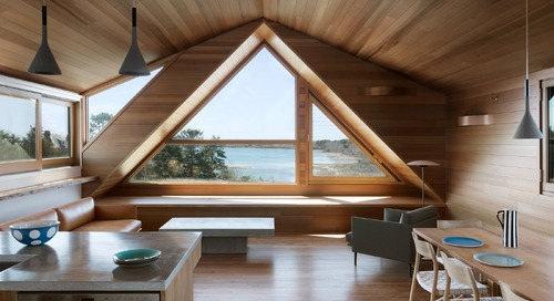 A Saltbox Home Is Revamped to Embrace its Sublime Cove Setting