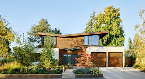 A Silicon Valley Retreat Sports a Butterfly Roof and Two Indoor/Outdoor Wings
