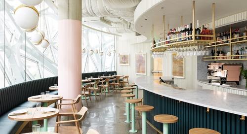 The Amazon Spheres' Buzzy New Restaurant Serves Up '70s Flair