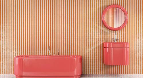 Trend Report: Bathroom Fixtures Go Bold in a Rainbow of Retro Hues