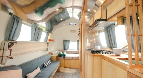 An Old Airstream Is Transformed Into a Midcentury-Inspired Dream Machine