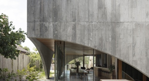 Concrete Arches Shroud a Minimalist Forever Home in a Melbourne Suburb