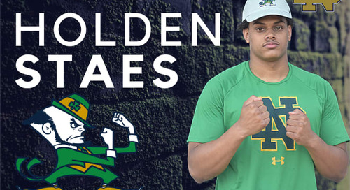 Four-Star TE Holden Staes Commits To Notre Dame Football