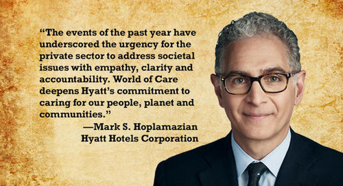 Hyatt launches World of Care to advance responsible business practices