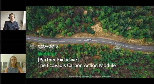 [Partner Exclusive Webinar] The EcoVadis Carbon Action Module