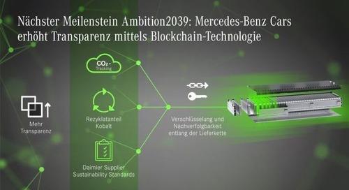 Daimler will mit Blockchain Transparenz in der Lieferkette gewährleisten