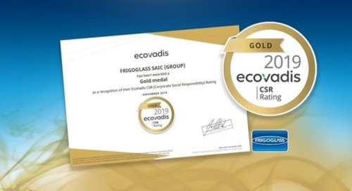 Frigoglassis awarded a Gold CSR rating by EcoVadis for 2019