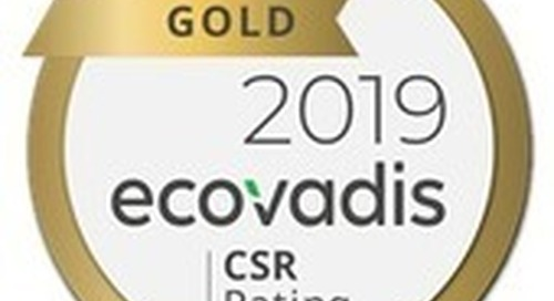 Barco Receives a Top 5% EcoVadis Gold Rating for Sustainability