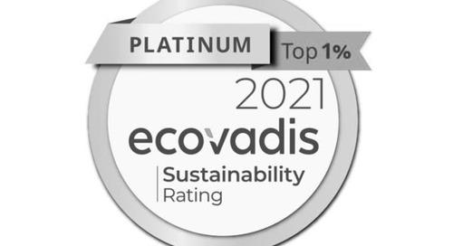 OMV verbessert sich in der Nachhaltigkeitsbewertung von EcoVadis 2021 auf Platin Level