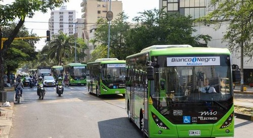 Colombian cities gather green speed with electric buses