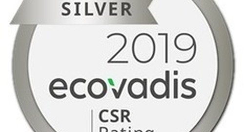 Trinseo Awarded Silver Medal CSR Rating by EcoVadis