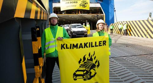 Salon de Francfort : Greenpeace dénonce l'impact de l'automobile sur la planète