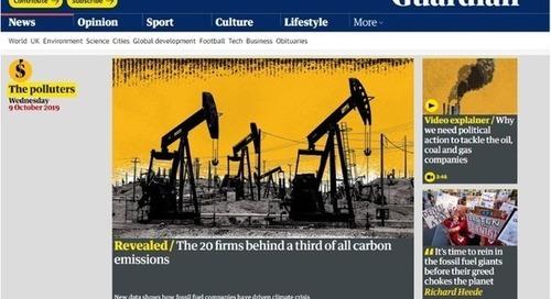 Chevron, Shell, Total… Ces 20 entreprises qui émettent un tiers des émissions de CO2 mondiales