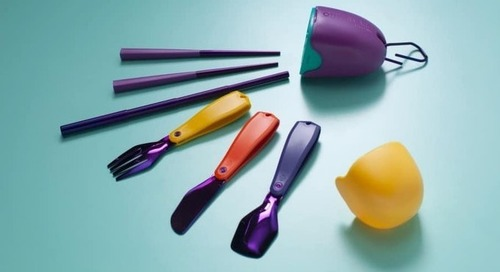 Pharrell and Pentatonic Create Reusable Cutlery Kit from Upcycled CDs