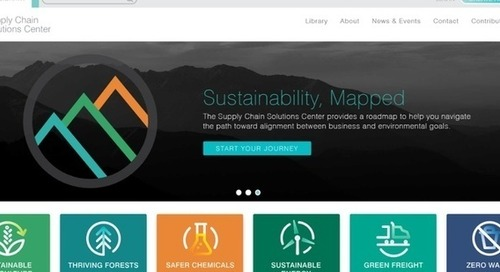 Environmental group launches supply chain sustainability website