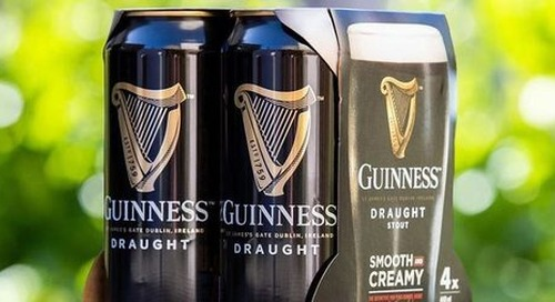 Diageo invests £16m to remove plastic Guinness packaging