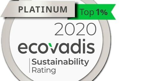 Platin für Sappi beim EcoVadis-Rating