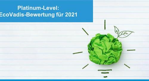 Platinum-Level: EcoVadis-Bewertung für 2021