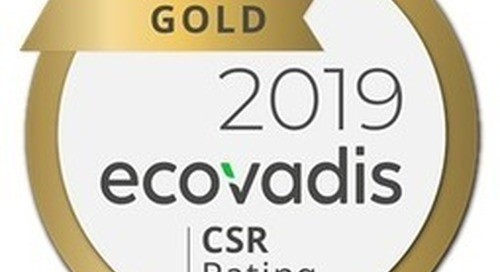 Lubrizol Achieves Gold Sustainability Rating From EcoVadis