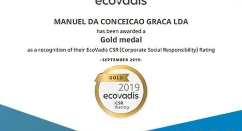 MCG distinguished for the first time with EcoVadis Gold Medal