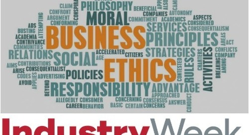 Business Ethics is Most Improved CSR Value