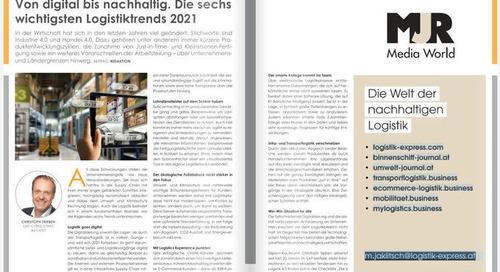 Von digital bis nachhaltig. Die sechs wichtigsten Logistiktrends 2021