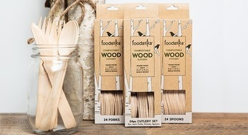 FOODSTIKS Disposable Wood Cutlery