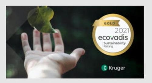 Kruger erreicht EcoVadis Gold Level Rating