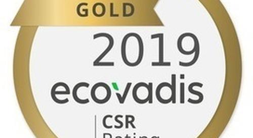 Rinn Beton- und Naturstein erhält zum dritten Mal Gold-Bewertung von EcoVadis