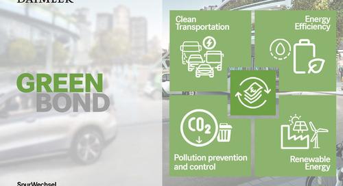 Daimler begibt erste grüne Anleihe mit Volumen von 1 Mrd. €