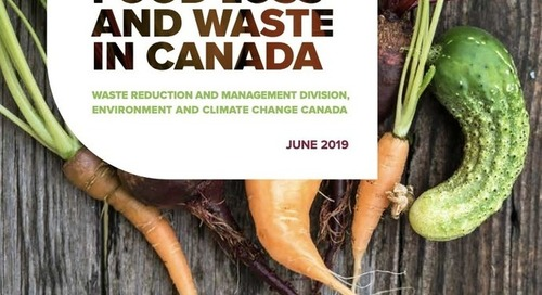 Environment and Climate Change Canada releases reports on Reducing Food Loss and Waste