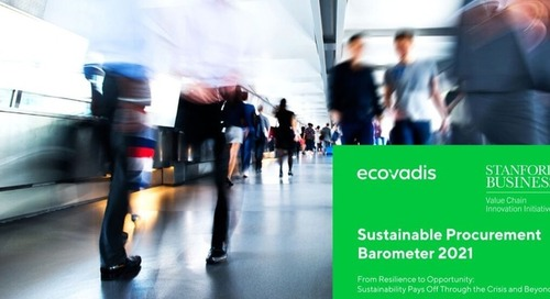 Baromètre EcoVadis 2021 « Achats Responsables »