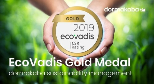 dormakaba EcoVadis Gold Medal - 2019