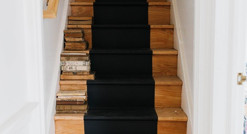 Why Buy a Runner When You Can Just Paint a Stripe Down Your Stairs?