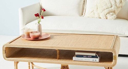 How to Have a Cool Coffee Table When You Don't Have Room for Much Else