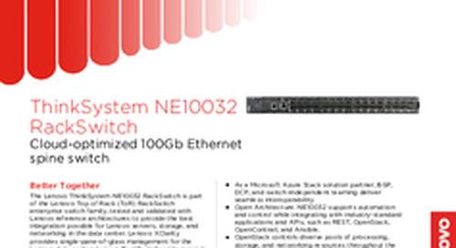 Lenovo ThinkSystem NE10032 Datasheet