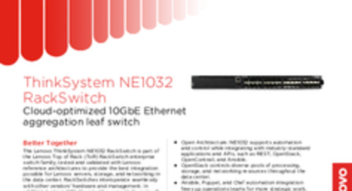 Lenovo ThinkSystem NE1032 Datasheet