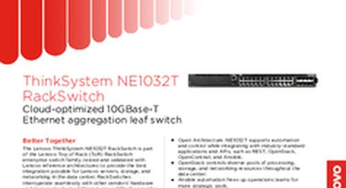 Lenovo ThinkSystem NE1032T Datasheet