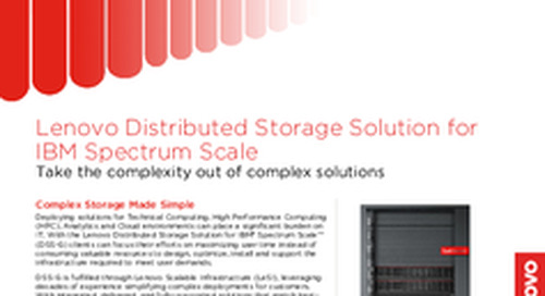 Lenovo Distributed Storage Solution Datasheet