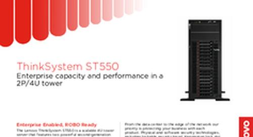 Lenovo ThinkSystem ST550 Datasheet