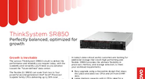 Lenovo ThinkSystem SR850 Datasheet