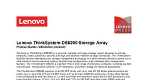 Lenovo ThinkSystem DS6200 Product Guide