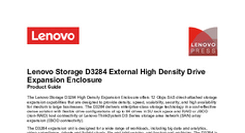 Lenovo Storage D3284 Product Guide