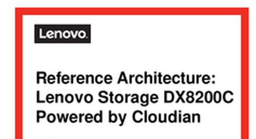 Reference Architecture: Lenovo Storage DX8200C Powered by Cloudian