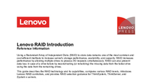 Lenovo RAID Introduction